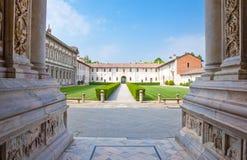 El Charterhouse de Pavía imagen de archivo libre de regalías