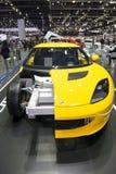 El chasis del cuerpo y el marco de Lotus EVORA en Tailandia viajan en automóvili la expo 2013 Fotografía de archivo