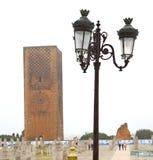 el chellah en lámpara y sitio de calle de Marruecos África imagen de archivo libre de regalías