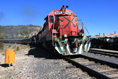 El Chepe train, Copper Canyon, Mexico Royalty Free Stock Images