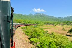 El Chepe train in the Copper Canyon, Mexico Stock Image