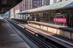 The El in Chicago Stock Image