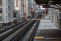 The El in Chicago Royalty Free Stock Photo