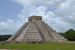 El ¾ ChichenItza Kukulkan del  Ð de Maya Yucatan MexiÑ staden Foto de archivo