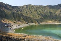 El Chichonal volcanic green lake Royalty Free Stock Photos
