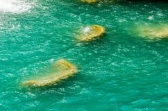 El Chiflon瀑布,恰帕斯州,墨西哥, 5月21日 免版税库存图片