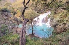 El Chiflon waterfalls near Comitan in Chiapas, Mexico stock photos