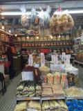 El chino tradicional secó la tienda de los mariscos Fotos de archivo libres de regalías