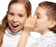 El chisme de los niños Fotografía de archivo libre de regalías