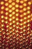 El chispear de oro Fotografía de archivo libre de regalías