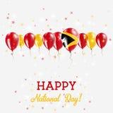 El chispear del Día de la Independencia de Timor-Leste patriótico Imagen de archivo libre de regalías