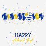 El chispear del Día de la Independencia de Uruguay patriótico Imagen de archivo libre de regalías