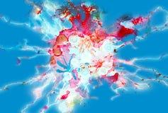 El chispear suave azul violeta mancha el fondo y la textura abstractos