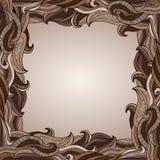 El chocolate abstracto agita la frontera Imagen de archivo