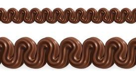 El chocolate azotó la crema Fotos de archivo