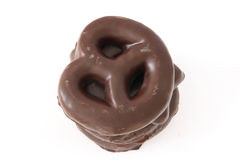 El chocolate cubrió las galletas del pan de jengibre Imágenes de archivo libres de regalías