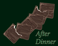El chocolate enrarece las mentas Imagen de archivo libre de regalías