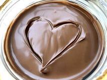 El chocolate heart Fotografía de archivo