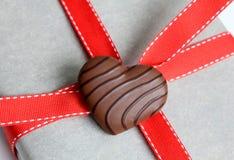 El chocolate heart Foto de archivo