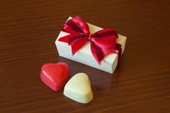 El chocolate heart Imagen de archivo