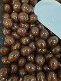 el chocolate hecho en casa fotografía de archivo