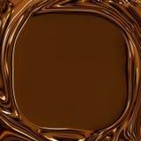 El chocolate remolina marco Imagen de archivo libre de regalías