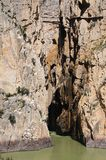 El Chorro gorge, Andalusia, Spain. Royalty Free Stock Photo