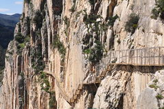 El Chorro gorge,Spain Royalty Free Stock Photo