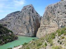 El Chorro gorge, Spain. Royalty Free Stock Photo