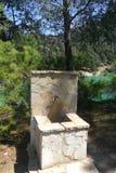 EL CHORRO - parque-ARdales Fonte-natural a Andaluzia Fotografia de Stock Royalty Free