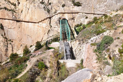 El Chorro railway,Andalusia, Royalty Free Stock Image