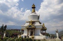 El Chorten conmemorativo nacional situado en Timbu, el capital de Bhután Imágenes de archivo libres de regalías