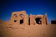 EL chrétien antique Bagawat, oasis de Kharga, Egypte de cimetière photographie stock