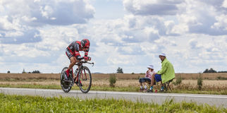 El ciclista Amael Moinard Fotos de archivo libres de regalías