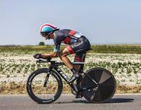 El ciclista Andy Schleck Imágenes de archivo libres de regalías