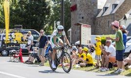 El ciclista Anthony Delaplace Imágenes de archivo libres de regalías