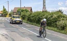 El ciclista Antwan Tolhoek - Criterium du Dauphine 2017 Foto de archivo