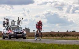 El ciclista australiano Evans Cadel Imágenes de archivo libres de regalías