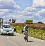 El ciclista australiano Stuart O'Grady Imágenes de archivo libres de regalías