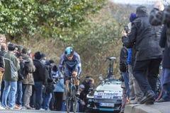 El ciclista Ben Swift - 2016 París-agradable Foto de archivo