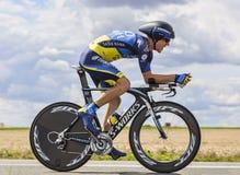 El ciclista Chris Sorensen Foto de archivo libre de regalías
