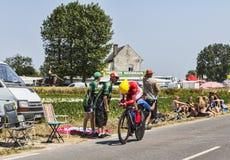 El ciclista Christophe Le Mevel Fotografía de archivo libre de regalías