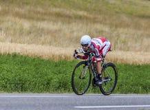 El ciclista Daniel Moreno Fernandez Imágenes de archivo libres de regalías