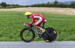 El ciclista Daniel Navarro Imagen de archivo libre de regalías