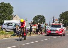 El ciclista Daniel Navarro Garcia Fotos de archivo libres de regalías