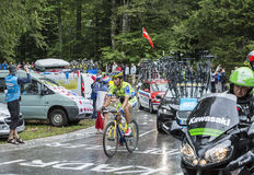 El ciclista Daniele Bennati Fotos de archivo libres de regalías