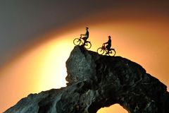 El ciclista de la bici Imagen de archivo libre de regalías