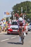 El ciclista Eduard Vorganov Foto de archivo libre de regalías