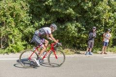 El ciclista Frank Schleck en Mont Ventoux - Tour de France 2016 Fotos de archivo libres de regalías