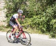 El ciclista Frank Schleck en Mont Ventoux - Tour de France 2016 Fotos de archivo